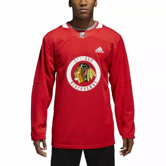 newest 8fd4d 59049 New! NHL Blackhawks Authentic Practice Jersey Boutique